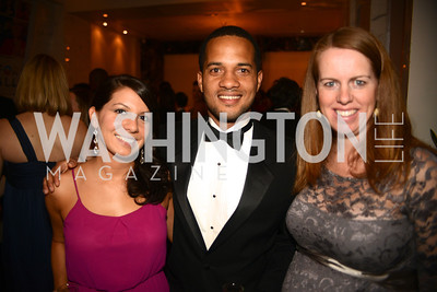 Nicole Debrabander, Robert Roche, Sarah Lynch,  Artists Making an IMPACT , Inauguration Dinner, OYA Restaurant and lounge. Photo by Ben Droz.