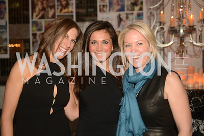 Mickie Simon,  Rachel Eddins, Jill Daschle, Artists Making an IMPACT , Inauguration Dinner, OYA Restaurant and lounge. Photo by Ben Droz.