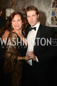 Ilyse Hogue, John Neffinger,  Artists Making an IMPACT , Inauguration Dinner, OYA Restaurant and lounge. Photo by Ben Droz.