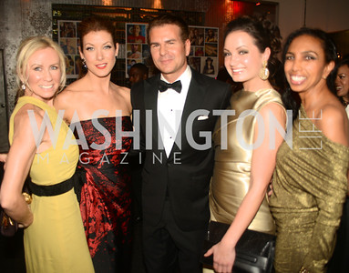 Carole Wagner, Kate Walsh, Vincent De Paul, Frances Holuba, Gail Holman, Artists Making an IMPACT , Inauguration Dinner, OYA Restaurant and lounge. Photo by Ben Droz.