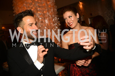 Sergio Lopez-Rivera, Kate Walsh, Artists Making an IMPACT , Inauguration Dinner, OYA Restaurant and lounge. Photo by Ben Droz.