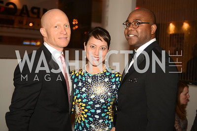 Lawrence Williams, Anna Soellner, Emile Hill,  Artists Making an IMPACT , Inauguration Dinner, OYA Restaurant and lounge. Photo by Ben Droz.