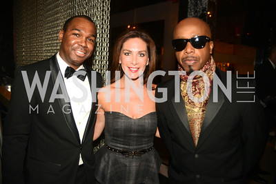 Darnell Strom, Stephanie Roumeliotes, MC Hammer,  Artists Making an IMPACT , Inauguration Dinner, OYA Restaurant and lounge. Photo by Ben Droz.