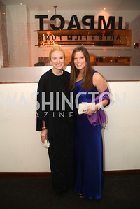 Colette Brown, Annie Rowland,  Artists Making an IMPACT , Inauguration Dinner, OYA Restaurant and lounge. Photo by Ben Droz.