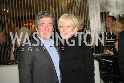 Peter Godwin, Joanna Coles,  Artists Making an IMPACT , Inauguration Dinner, OYA Restaurant and lounge. Photo by Ben Droz.