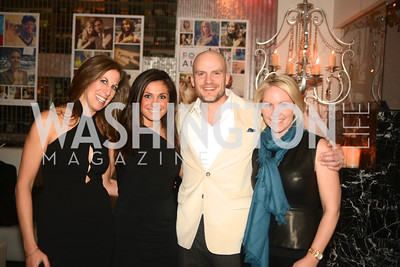 Mickie Simon,  Rachel Eddins, Nathan Daschle, Jill Daschle, Artists Making an IMPACT , Inauguration Dinner, OYA Restaurant and lounge. Photo by Ben Droz.