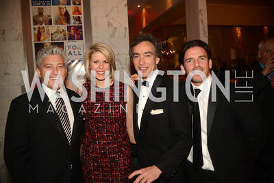 Lenny Stern, Penny Lee, Mark Kaminsky, Brad Kay,  Artists Making an IMPACT , Inauguration Dinner, OYA Restaurant and lounge. Photo by Ben Droz.