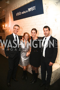 David Simpson, Kathy Fletcher, Nicole Alexiev, Trevor Monroe,  Artists Making an IMPACT , Inauguration Dinner, OYA Restaurant and lounge. Photo by Ben Droz.