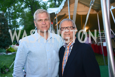 Rick Peterson, Dr. Bill Belkenstein, Annual 'Life with Cancer' Lobster Extravaganza, at the home of Milton Peterson.  Saturday May 4, 2013.  Photo by Ben Droz.
