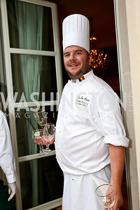 Chef Jan Van Haute. Photo by Tony Powell. 2013 Belgium National Day Celebration at the residence of the Belgian Ambassador. July 18, 2013