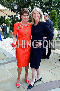 Diane Jones, Sydney McNiff Johnson. Photo by Tony Powell. 2013 Belgium National Day Celebration at the residence of the Belgian Ambassador. July 18, 2013