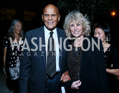 Harry Belafonte and Pamela Frank. Photo by Tony Powell. Institute for Policy Studies' 50th Anniversary Gala. Union Station. October 13, 2013