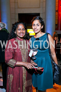 Sharmini Peries, Tasha Shea. Photo by Tony Powell. Institute for Policy Studies' 50th Anniversary Gala. Union Station. October 13, 2013