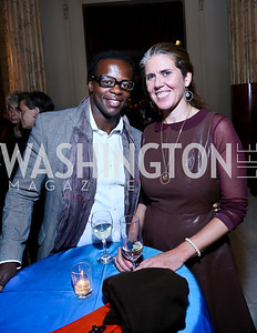 Oriwa Kenneth, Cynthia Ryan. Photo by Tony Powell. Institute for Policy Studies' 50th Anniversary Gala. Union Station. October 13, 2013