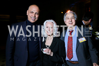 Busboys and Poets Owner Andy Shallal, Kitty and Lewis Steel.  Photo by Tony Powell. Institute for Policy Studies' 50th Anniversary Gala. Union Station. October 13, 2013