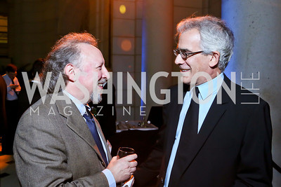 Peter Kornbluh, David Corn. Photo by Tony Powell. Institute for Policy Studies' 50th Anniversary Gala. Union Station. October 13, 2013