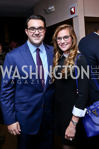 "Jordan and Anna Sekulow. Photo by Tony Powell. James Swanson ""End of Days"" book party. 116 Club. November 14, 2013"