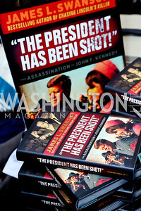"""The President Has Been Shot."" Photo by Tony Powell. James Swanson ""End of Days"" book party. 116 Club. November 14, 2013"