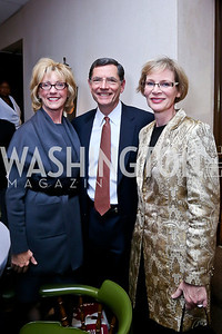"Bobbi Barrasso and Wyoming Sen. John Barrasso, Andrea Mays. Photo by Tony Powell. James Swanson ""End of Days"" book party. 116 Club. November 14, 2013"