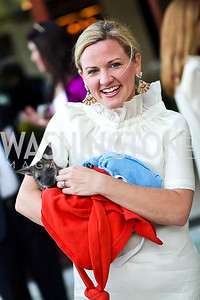Sassy Jacobs holding a wallaby. Photo by Tony Powell. Kimsey National Zoo Dinner. Kimsey residence. April 17, 2013