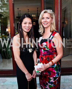 Amber Hsu, Lesli Creedon. Photo by Tony Powell. Kimsey National Zoo Dinner. Kimsey residence. April 17, 2013