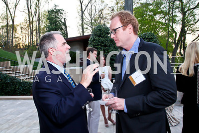 Steve Monfort, James Garrity. Photo by Tony Powell. Kimsey National Zoo Dinner. Kimsey residence. April 17, 2013