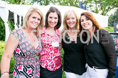 Liz Fitton, Christine Harrison, Susan Grow, Carole Walter. Photo by Alfredo Flores. Junior Tennis Champions Center Celebration. Residence of the Swedish Ambassador. May 15, 2013