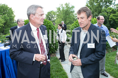 Sen. John Breaux, Mats Wilander. Photo by Alfredo Flores. Junior Tennis Champions Center Celebration. Residence of the Swedish Ambassador. May 15, 2013