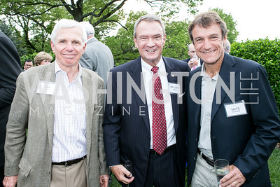 Ray Benton, Sen. John Breaux, Mats Wilander. Photo by Alfredo Flores. Junior Tennis Champions Center Celebration. Residence of the Swedish Ambassador. May 15, 2013