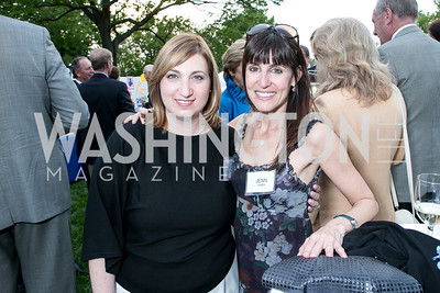 Lisa Pendleton, Jenn Haber. Photo by Alfredo Flores. Junior Tennis Champions Center Celebration. Residence of the Swedish Ambassador. May 15, 2013