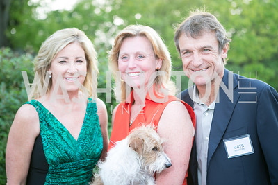 Chris Evert, Eva Hafstrom, Mats Wilander. Photo by Alfredo Flores. Junior Tennis Champions Center Celebration. Residence of the Swedish Ambassador. May 15, 2013