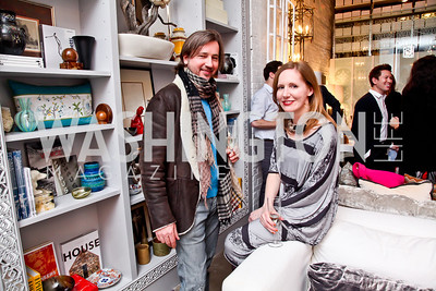 "Christopher Reiter and Juleanna Glover. Photo by Tony Powell. Karin Tanabe ""The List"" book party. Showroom 1412. February 28, 2013"