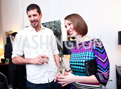 "Juergen and Julia Seufert. Photo by Tony Powell. Karin Tanabe ""The List"" book party. Showroom 1412. February 28, 2013"