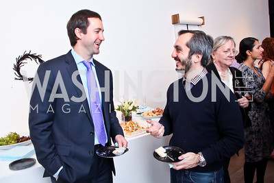 "Craig Fischer, Amir Afkhami. Photo by Tony Powell. Karin Tanabe ""The List"" book party. Showroom 1412. February 28, 2013"