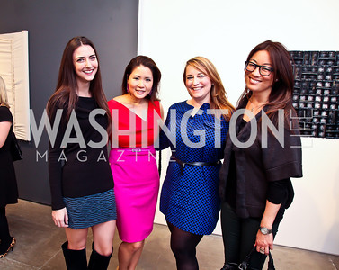 "Kate Michael, Gina Jun, Windy Shepard, Pamela Sorensen. Photo by Tony Powell. Karin Tanabe ""The List"" book party. Showroom 1412. February 28, 2013"