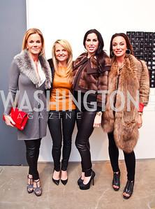 """Susanna Quinn, Jamie Dorros, Amy Baier, Kristin Rae Cecchi. Photo by Tony Powell. Karin Tanabe """"The List"""" book party. Showroom 1412. February 28, 2013"""