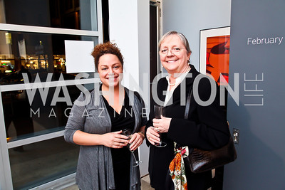 "Lauren Gentile, Marie Tanabe. Photo by Tony Powell. Karin Tanabe ""The List"" book party. Showroom 1412. February 28, 2013"