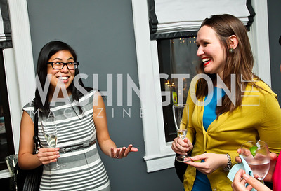 "Kendra Chaikind, Jenna Johnson. Photo by Tony Powell. Karin Tanabe ""The List"" book party. Showroom 1412. February 28, 2013"