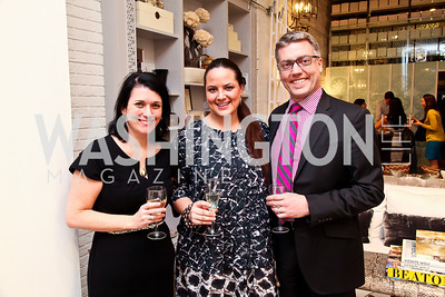 "Jenny Vance, Kristy Boyd, David Shove-Brown. Photo by Tony Powell. Karin Tanabe ""The List"" book party. Showroom 1412. February 28, 2013"