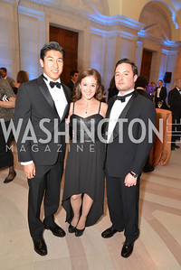 Ryan Bounsy, Alana Rudkin, Arturo Gomez, LUNGevity Foundation's Musical Celebration of Hope.  Andrew Mellon Auditorium.  October 26, 2013.  Photo by Ben Droz.