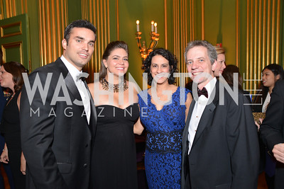 Doug Kammerer, Holly Kammerer, Lisa Sorkin,	Jerry Sorkin, LUNGevity Foundation's Musical Celebration of Hope.  Andrew Mellon Auditorium.  October 26, 2013.  Photo by Ben Droz.