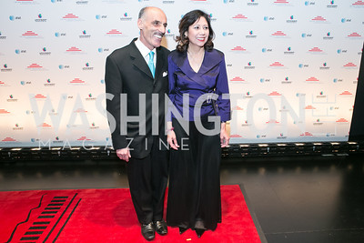 Sam Sayyad, Hilda Solis. Photo by Alfredo Flores. Latino Inaugural 2013. John F. Kennedy Center for the Performing Arts. January 20, 2013.