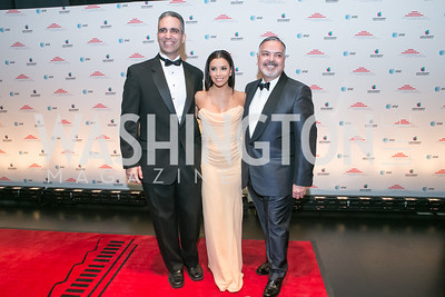 Andres W. Lopez, Eva Longoria, Henry Munoz III. Photo by Alfredo Flores. Latino Inaugural 2013. John F. Kennedy Center for the Performing Arts. January 20, 2013.