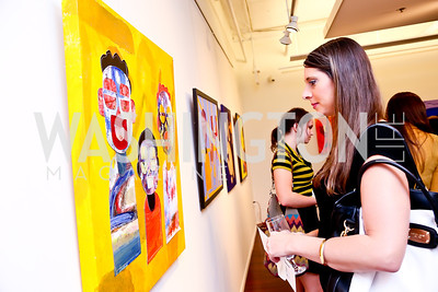 """Cathy Stark. Photo by Tony Powell. """"Courage on Canvas"""" Exhibit Opening. Pepco Edison Place Gallery. October 2, 2013"""