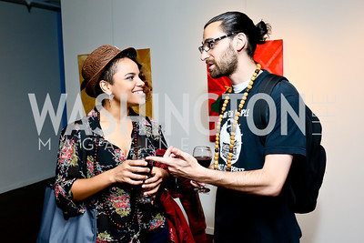 "Sunny Jolie, Jonathan Tucker. Photo by Tony Powell. ""Courage on Canvas"" Exhibit Opening. Pepco Edison Place Gallery. October 2, 2013"