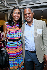 "Sonya Ali, Chip Ellis. Photo by Tony Powell. ""Courage on Canvas"" Exhibit Opening. Pepco Edison Place Gallery. October 2, 2013"