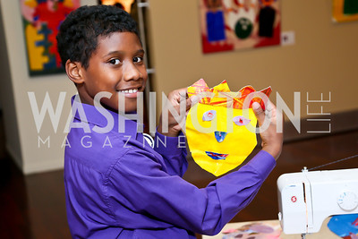 """Isaiah Neal. Photo by Tony Powell. """"Courage on Canvas"""" Exhibit Opening. Pepco Edison Place Gallery. October 2, 2013"""