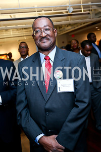 "LPTM Board Member Raymond Covington. Photo by Tony Powell. ""Courage on Canvas"" Exhibit Opening. Pepco Edison Place Gallery. October 2, 2013"