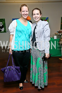 "Emily Penprase, Amanda Parris. Photo by Tony Powell. ""Courage on Canvas"" Exhibit Opening. Pepco Edison Place Gallery. October 2, 2013"