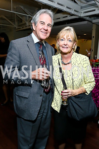 "Chris and Carole Kerns. Photo by Tony Powell. ""Courage on Canvas"" Exhibit Opening. Pepco Edison Place Gallery. October 2, 2013"